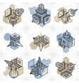 engineering abstract geometric shapes simple set vector image vector image