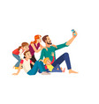 family happiness generation and people concept vector image vector image