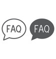 faq line and glyph icon speech and bubble vector image