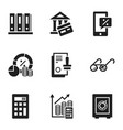 finance banking icon set simple style vector image