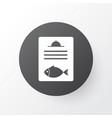 fish menu icon symbol premium quality isolated vector image vector image