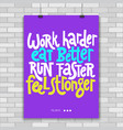 fitness motivational quotes vector image vector image
