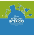 Flat colors infographics vector image