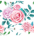 flower rose seamless pattern vector image vector image