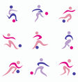 football set icons vector image
