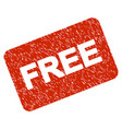 free card grunge icon vector image vector image