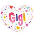 gigi girls name vector image vector image
