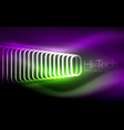glowing ellipses dark background waves and swirl vector image