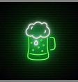 green beer neon sign irish ale signboard vector image vector image