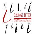 grunge letter set for your design vector image vector image