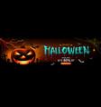halloween sale spooky ghost pumpkin smile and bat vector image vector image
