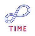 hand draw endless time icon in doodle style for vector image