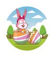 happy easter cartoon vector image vector image