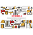 house repair tools and equipment vector image vector image