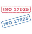 iso 17025 textile stamps vector image vector image