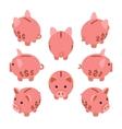Isometric piggy bank vector image