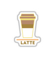 label frames and badges icons coffee emblem latte vector image vector image