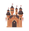 medieval castle fairytale fortress with towers vector image vector image