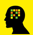 mind concept graphic for memory loss or amnesia vector image vector image