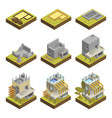 modern house building stages vector image vector image