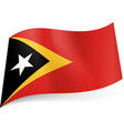 national flag of east timor black triangle with vector image