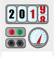 new 2019 is coming in flat style vector image vector image