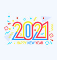 new year color 2021 number design vector image