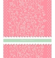 Pink background for valentine day card vector image vector image