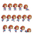 Pinky Girl Game Sprites vector image vector image