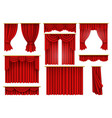 red curtains opera cinema theater stage drapery vector image vector image