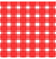 red scotch pattern vector image