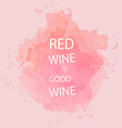 Red wine tasting card vector image vector image
