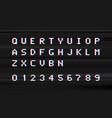 retro digital type computer video game stule vector image vector image