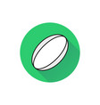 rugby ball icon on white background vector image vector image