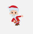 santa claus shows very angry something to his left vector image vector image