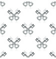 seamless pattern with car pistons isolated on vector image vector image