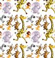Seamless wild animals running vector image vector image