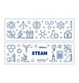 set 2 steam concept outline horizontal vector image