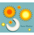 set elements for weather forecast vector image
