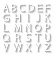 Set letters vector image