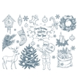 Set of hand drawn christmas elements vector image vector image