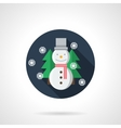Snowman round flat icon vector image vector image