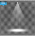 spotlight on transparent background light vector image vector image