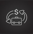 stock trading thin line on black background vector image