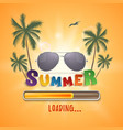 summer loading background with palms seagull vector image