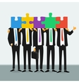 team successful business people vector image vector image