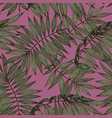 tropical branches on a pink background seamless vector image vector image