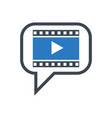 video marketing glyph icon vector image
