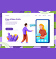 video phone call girl with man vector image