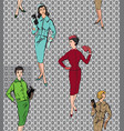 vintage dressed girl 1920s style retro fashion vector image vector image